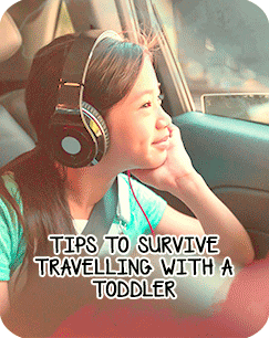 tips to survive travelling with a toddler
